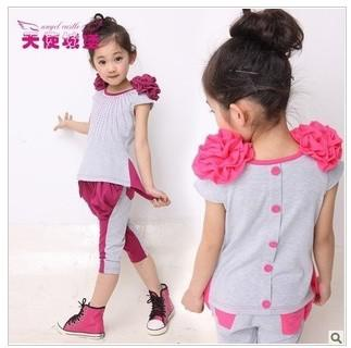 8682062fd1a 2013 New Summer Fashion Sweet 4-8 Years Baby Girl s Korean Style Leisure  Two-