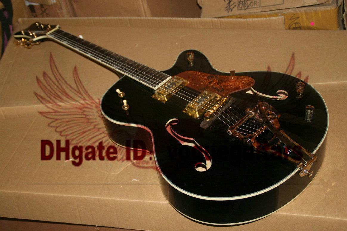 Gratis verzending Custom Shop Classic G6136T Black Jazz elektrische gitaar C43