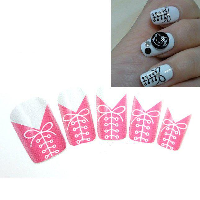 Kiss Nail Dress Corset Nail Art Decals Black White Water Transfer ...