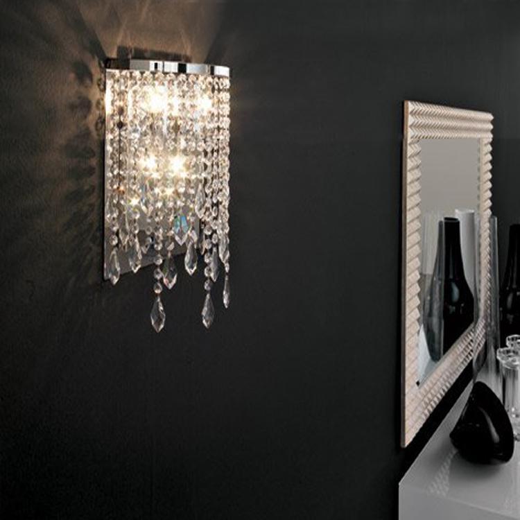moderne cristal miroir lumière salle de bain lampe murale contemporaine  pour salle de lavage cristal lampe de cristal lampe de cristal LED lampe ...