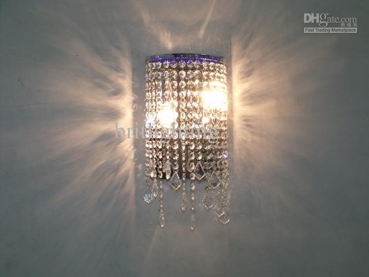 lámpara de pared contemporánea baño la luz del espejo de cristal moderna de la pared de cristal sala de lavado lámpara LED lámpara de pared de cristal de la luz