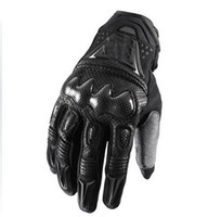 Wholesale motor leather - 2015 New Motorcycle motorbike racing gloves leather gloves Bomber gloves black and gray motor glove M L XL