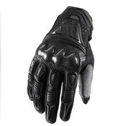 Wholesale carbon motors - 2015 New Motorcycle motorbike racing gloves leather gloves Bomber gloves black and gray motor glove M L XL
