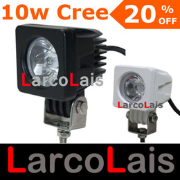 Wholesale High Power Off Road Lights - 10W Cree High Power LED Work Light Lamp Bulb Off-Road 4WD 4x4 12v 24v Truck SUV ATV Flood Spotlight LARCOLAIS