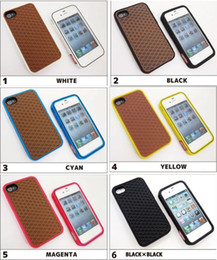 Wholesale Silicone Case Iphone Waffle - High Quality Fashion Style Coffee And White Color Van Waffle Silicon Shoe Case For iPhone 4 4S 5 5S SE 6 6S Plus
