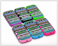 Wholesale Tribal Cover S3 - 2013 Fashion Aztec Tribal Tribe Retro Back Case Hybrid 3 in 1 layers Cover for Galaxy S3 SIII i9300