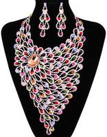 Wholesale Neoglory Necklace - multicolors cubic zirconia chunky wedding Jewelry set necklace+earrings bride Jewelry NJ-609 2013 Neoglory Beauty Paradise@Rihood Trading