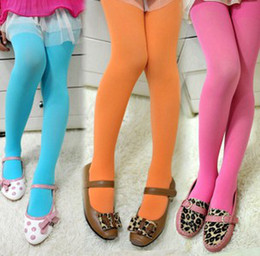 Wholesale Girls Coloured Tights - Girls Tights Pantyhose Leggings Stockings Opaque Colour Girls' Velvet Pantyhose Girl Tights Cute Leggings Girl Socks 7930