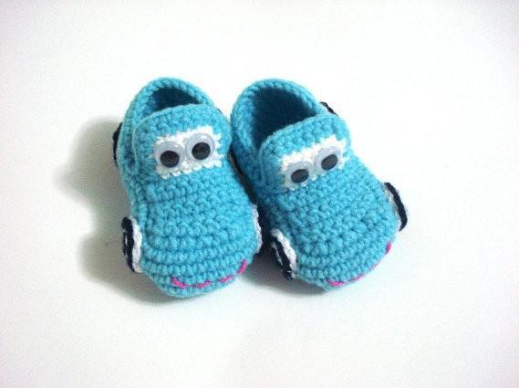 Compre Bebé Zapatos De Niños Del Bebé Del Ganchillo Coches Botines ...