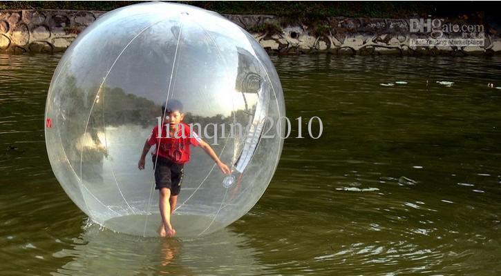 2015 Desporto Aquático Zorb Zorbing Caminhada bola / esfera de passeio da água / Walk on Water Bola 1.8M PVC 0.8MM com o 600W ventilador