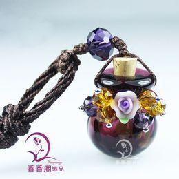 Wholesale Murano Glass Car Aroma - Murano Glass Car Aroma Fresheners aromatherapy diffuser pendant perfume bottle glass