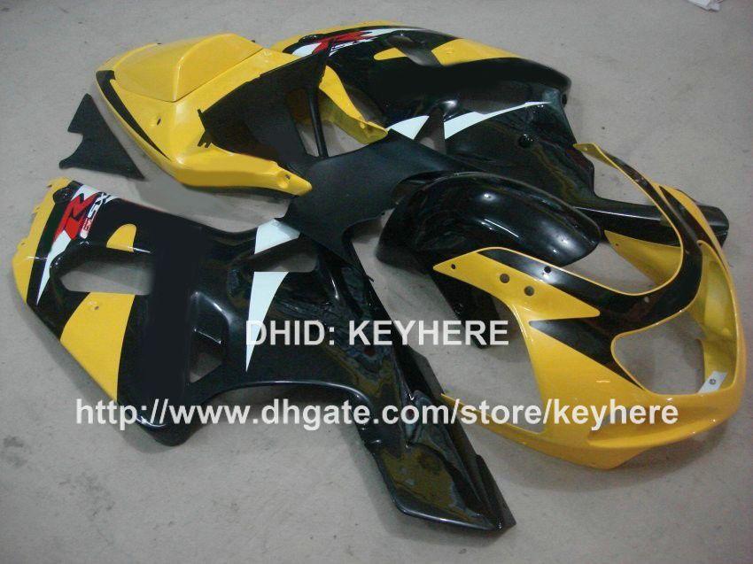 Carenagens de motociclos para SUZUKI GSXR600 / 750 2001 2002 2003 GSX-R600 R750 01 02 03 GSX R600 01 02 03 carretel k1 conjunto G1a carroçaria amarelo preto