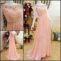 Wholesale Wonderful Short Dresses - Newest Free Shipping Sexy Wonderful Sheath Beaded Crystal Ruffle Chiffon Evening Dresses Party Gown Prom Dress