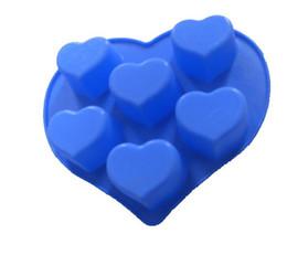 Forma de mini jabón online-Moldes para velas en forma de corazón moldes de pastel de silicona de chocolate decoración cortador de fondant bricolaje mini moldes de jabón envío gratuito