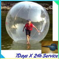 Wholesale Walk Water Ball Zorb - 2015 WATER sport Zorb Zorbing Walk ball   Water walking ball   Walk on Water Ball 1.8M PVC 0.8MM with the 600W blower