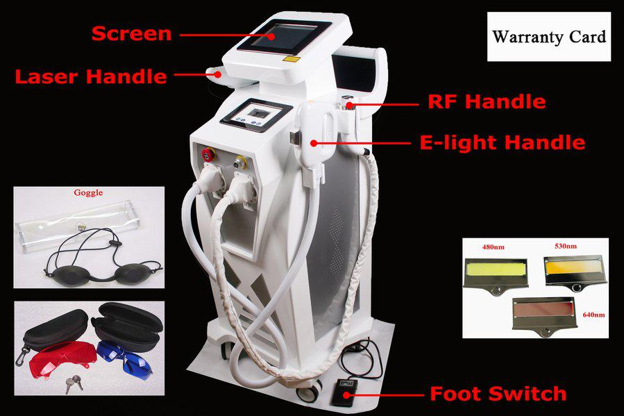 UPDATED 3-1 YAG LASER + E-Light + RF Skin Hair Removal Machine