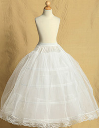 Wholesale Ivory Wedding Dress Petticoat - Wedding Party Child Ball Gown Petticoat For Flower Girl Dress