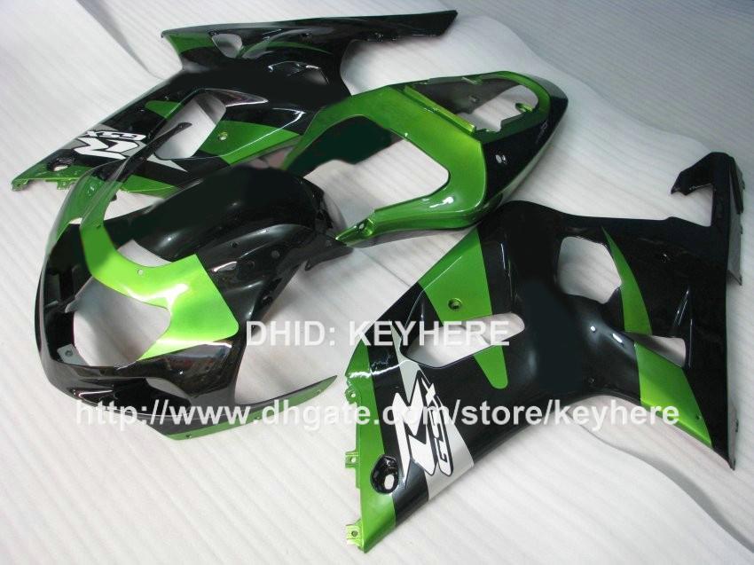 ABS Plastic fairing kit for SUZUKI GSX-R 600/750 2001 2002 2003 GSXR600 750 01 02 03 k1 fairings body kit G2d green black motorcycle parts