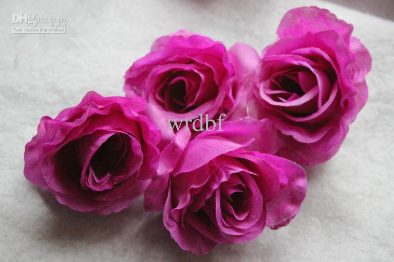 Nouvelle Arrivée Conception Diamètre 9-10 cm Soie Artificielle Demi Ouvert Camélia Rose Tissu Pivoine Têtes De Fleur