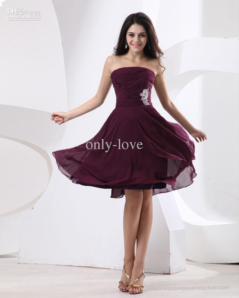 Cheap burgundy a line bridesmaid dresses strapless sleeveless see larger image ombrellifo Images