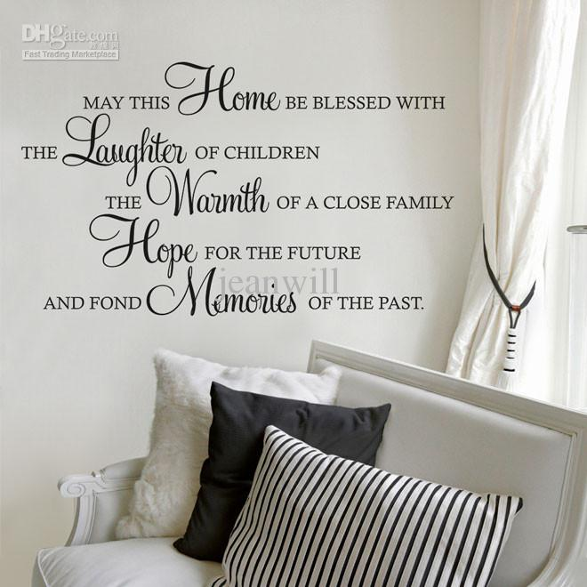 May This House Be Blessed Wall Quote Decal Kids Lettering Saying - Dining room vinyl wall quotes