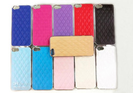 Wholesale Iphone Luxury Leather Chrome Case - Hot Deluxe Luxury Leather Chrome Snap On Hard Case Cover for iPhone 5 5G