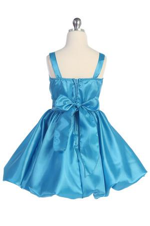 Lovely Blue Silver Viola cinghie Flower Girls 'Abiti ragazze Abiti formali Princess Pageant Skirt Holidays Brithday Skirt SZ 2-10 HF513007
