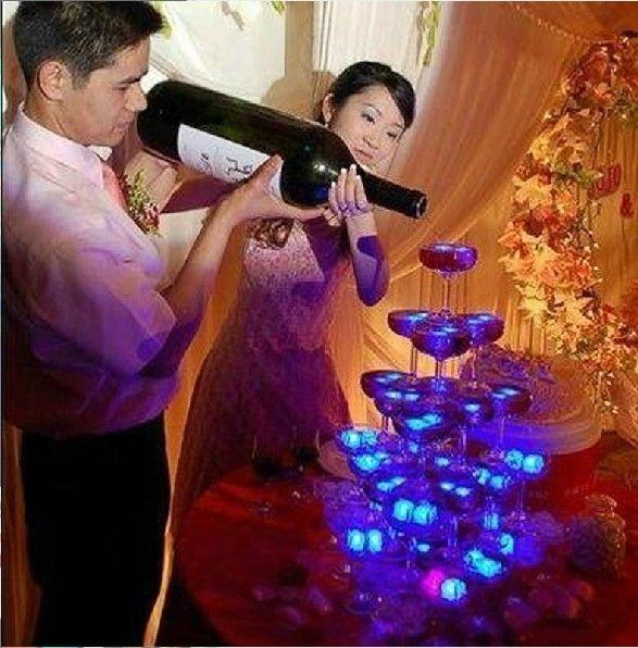 Yepyeni Flash Light Buz küplerinin kristal küp renk flaş ışığı buz düğün Noel Partisi Bar / için