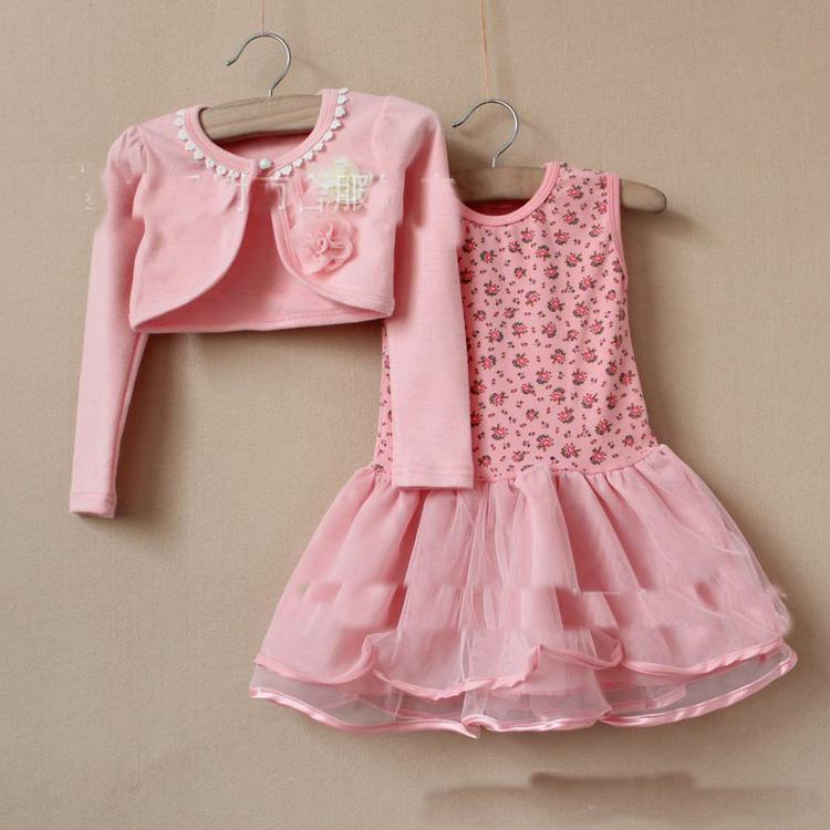 2017 2013 Girls Set Little Jacket   Dress Suit Baby Clothing ...