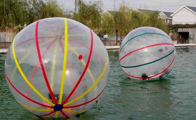 Più nuovo colorato 2m diametro 0.8mm di spessore TPU gonfiabile Zorb Walking Ball / Acqua a piedi con la Germania Marca Tizip + 600 W ventilatore