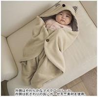 Wholesale Cotton Velveteen Wholesale - Baby Blanket Warm Sleeping Bag Cloak Newborn Hold The Blanket Velveteen 5PCS