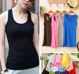 Wholesale Ribbed Cotton Tank - Summer hot-selling Woven Cotton rib knitting women's tank Tops long design Multicolour Long design 100% cotton women's vest
