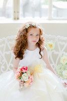 Lovely Pink Yellow Tea- Length Flower Girls' Dresses Girls' F...