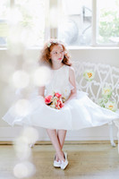 Lovely Pink White Layers Tea- Len Flower Girls' Dresses Girls...