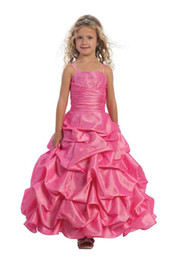Lovely Purple Pink Ankle-Le Flower Girls' Dresses Girls' Formal Dresses Princess Pageant Skirt Holidays Brithday Skirt SZ 2-10 HF513020