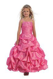 2019 арабская милая девушка Прекрасный фиолетовый розовый лодыжки-Le Flower Girls 'платья девушки' вечерние платья принцесса конкурс юбка праздники Brithday юбка SZ 2-10 HF513020