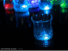 Wholesale Beer Drinking Cups - 24pcs lot New Arrival LED Flashing Acrylic Cup Beer Drink Cup for Party Bar Use free shipping