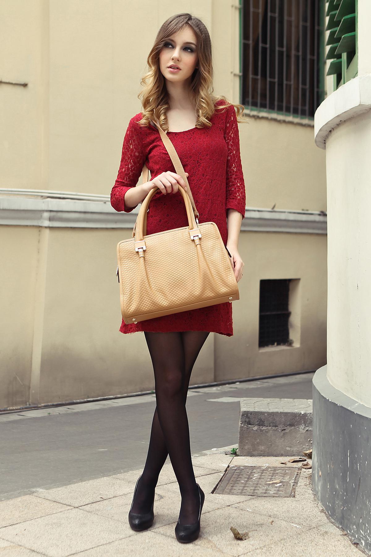 Mic Baimulin 6066 Mid Size Womens Fashion Shoulder Bags 2013 Beige ...