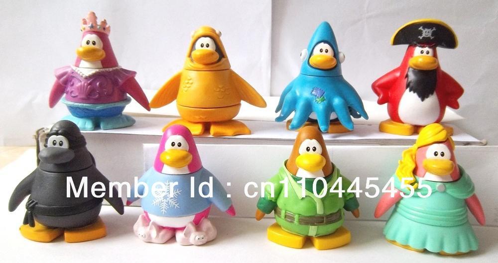 Random 5pcs DIsney Club Penguin Mix N Match Figures Cute Toy