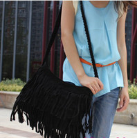 Wholesale Dropship Lady Bags - Dropship Lady Bags Suede Shoulder Bag Fringe Tassel women's fashion handbag 4colors