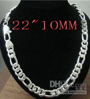 New jewelry925 sterling silver Chain Men' s Necklace 22&...