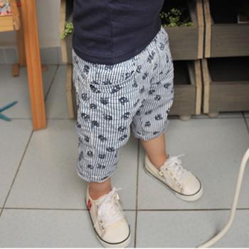 2016 년 하계 소년 반바지 어린 아기 짧은 바지 해골 수직 줄무늬 디자인 키즈 의류 Size100-140 무료 배송