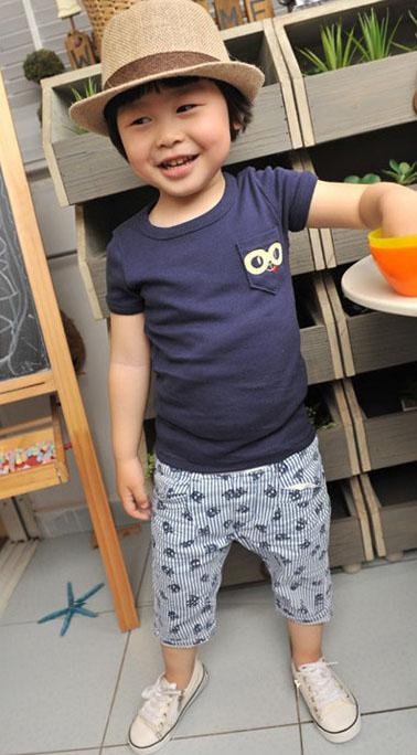 2016 Pantaloni estate pantaloncini ragazzi Bambini brevi Skull banda verticale Design Kids Clothes Size100-140 trasporto