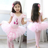Wholesale Pink Leotard 3t - Girl Sequin Shoes Ballet Dance Costume Party Tutu Leotard Dress Size 3- 8 years old