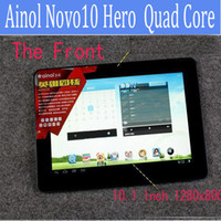 "Wholesale Ainol Novo Screen Protector - 10.1"" Quad core Ainol Novo 10 Hero II Android Tablet pc Android 4.1 IPS Screen 1.5GHz CPU RAM 1GB ROM 16GB Dual Camera HDMI 1280x800Px 1pcs"