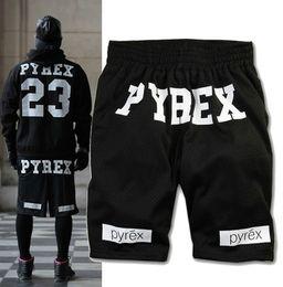 Wholesale Pyrex Vision 23 - Fashion Men & Women Pyrex Vision 23 Gym Loose Drawstring Shorts mesh breathable sports basketball pants couple models 3 Colors