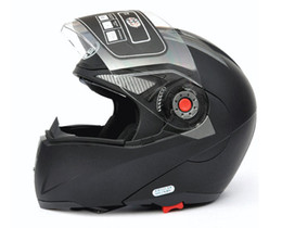 Wholesale Helmets Jiekai - Transparent lens Dark black Helmets JIEKAI 105 undrape face helmet Full Face helmet Motorcycle Helmet motocross helmet Moto Racing Helmet
