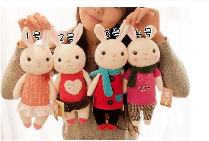 Valentijnsdag cadeau De Tiramisu Rabbit Metoo Microfoon Konijn Pop pluche speelgoed met geschenkdoos