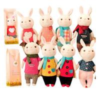 Wholesale Metoo Rabbit Doll - Valentine's Day gift the tiramisu rabbit METOO microphone Rabbit doll plush toy with gift box