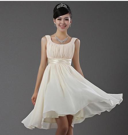 Nuevo nuevo nuevo barato barato Scoop Envío gratis Chiffon con cremallera con cremallera de dama de honor corta vestido de fiesta